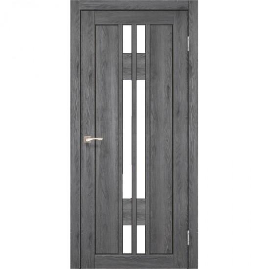 Дверь Valentino VL-05 со стеклом сатин Дуб марсала