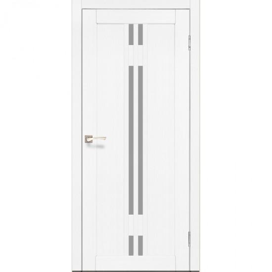 Дверь Valentino VL-05 со стеклом сатин Ясень белый