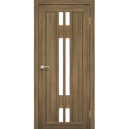 Дверь Valentino VL-05 со стеклом сатин Дуб тобакко