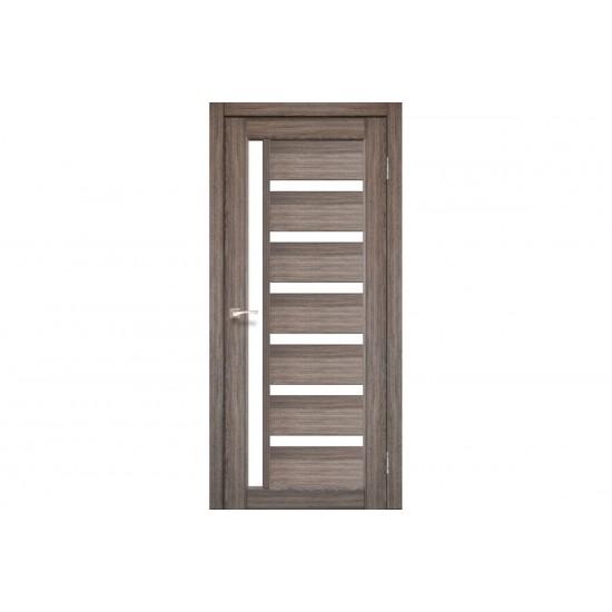 Дверь Valentino Deluxe VLD-01 со стеклом бронза Дуб грей