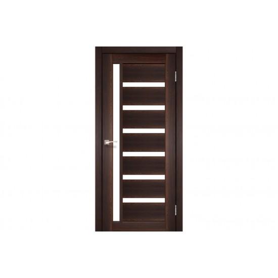 Дверь Valentino Deluxe VLD-01 со стеклом бронза Дуб марсала