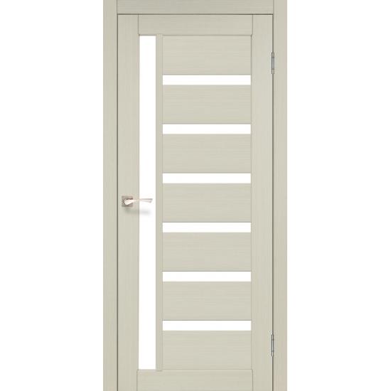 Дверь Valentino Deluxe VLD-01 со стеклом бронза Эш-вайт