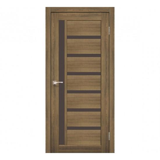 Дверь Valentino Deluxe VLD-01 со стеклом бронза Сталь кортен