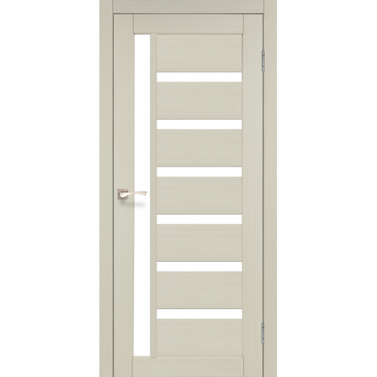 Дверь Valentino Deluxe VLD-01 со стеклом бронза Лайт бетон