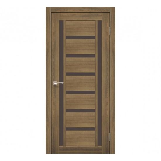 Дверь Valentino Deluxe VLD-02 со стеклом бронза Орех