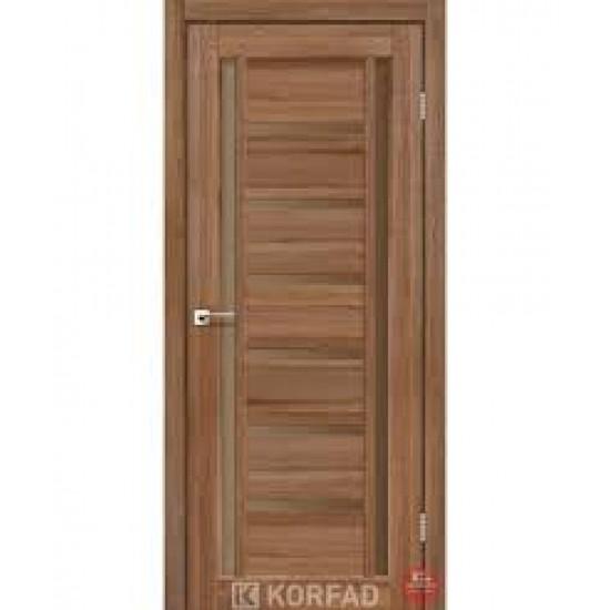 Дверь Valentino Deluxe VLD-02 со стеклом бронза Сталь кортен