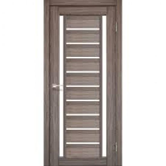 Дверь Valentino Deluxe VLD-03 со стеклом бронза Дуб грей