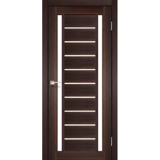 Дверь Valentino Deluxe VLD-03 со стеклом бронза Дуб марсала
