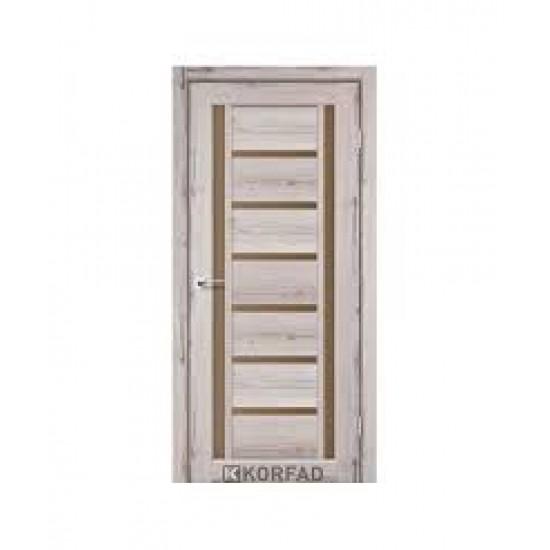 Дверь Valentino Deluxe VLD-03 со стеклом бронза Дуб нордик