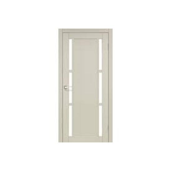 Дверь Valentino Deluxe VLD-04 со стеклом бронза Дуб беленый