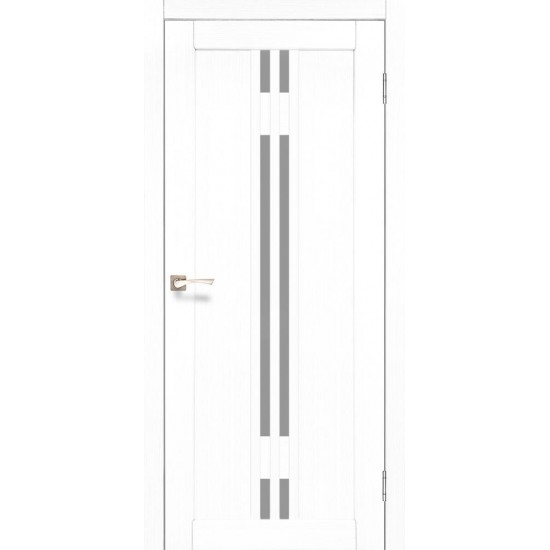 Дверь Valentino Deluxe VLD-05 со стеклом бронза Ясень белый