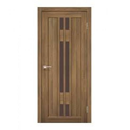 Дверь Valentino Deluxe VLD-05 со стеклом бронза Дуб браш