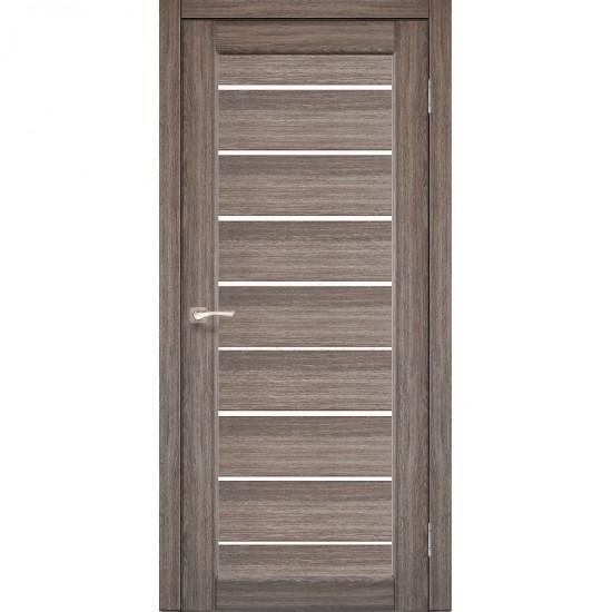 Дверь Piano Deluxe PND-01 со стеклом сатин Дуб грей