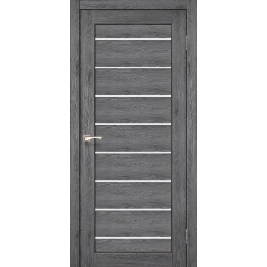 Дверь Piano Deluxe PND-01 со стеклом сатин Дуб марсала