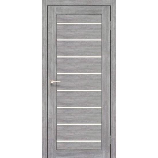 Дверь Piano Deluxe PND-01 со стеклом сатин Лайт бетон