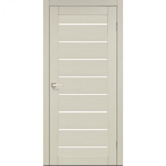 Дверь Piano Deluxe PND-01 со стеклом бронза Дуб беленый
