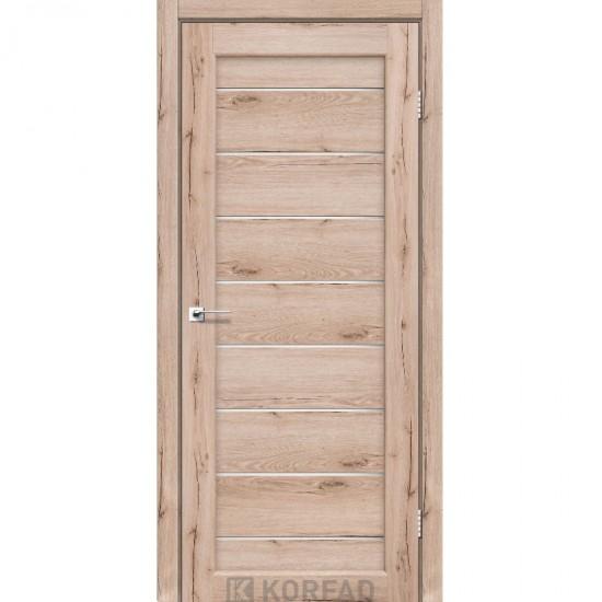 Дверь Piano Deluxe PND-01 со стеклом бронза Дуб тобакко