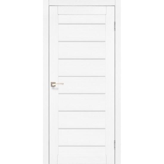Дверь Piano Deluxe PND-01 со стеклом бронза Белый перламутр