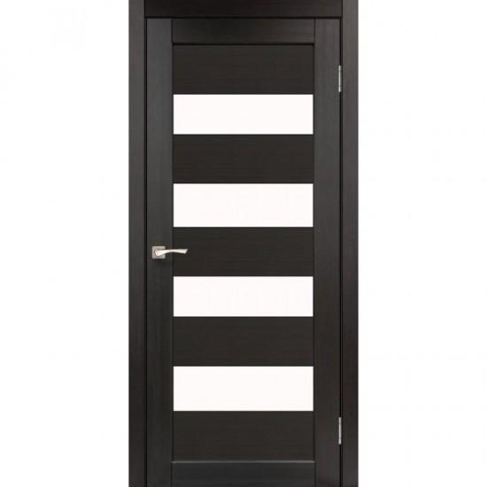 Дверь Piano Deluxe PND-02 со стеклом сатин Дуб марсала
