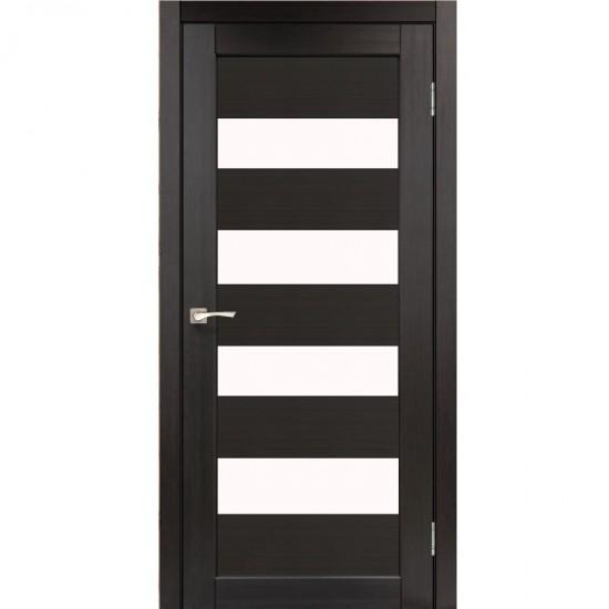 Дверь Piano Deluxe PND-02 со стеклом бронза Венге
