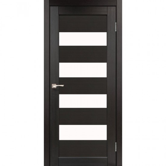 Дверь Piano Deluxe PND-02 со стеклом бронза Дуб марсала