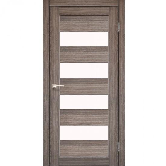 Дверь Piano Deluxe PND-02 со стеклом бронза Дуб браш
