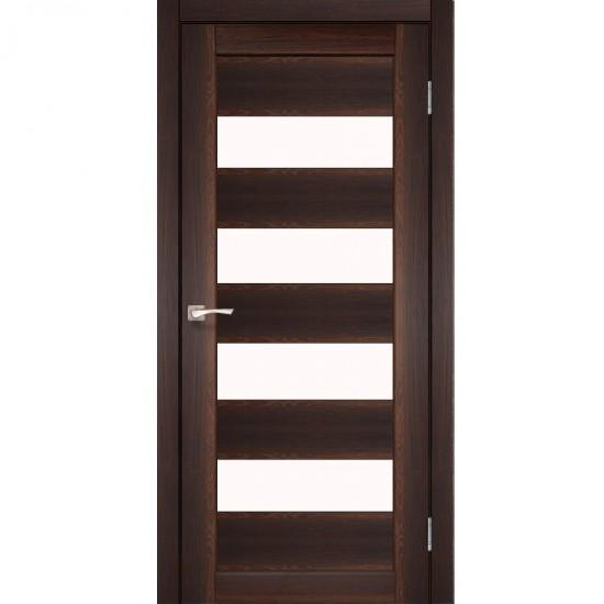 Дверь Piano Deluxe PND-02 со стеклом бронза Сталь кортен
