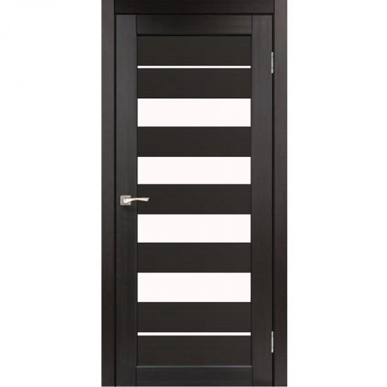 Дверь Piano Deluxe PND-03 со стеклом сатин Венге