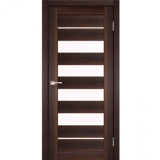Дверь Piano Deluxe PND-03 со стеклом бронза Орех