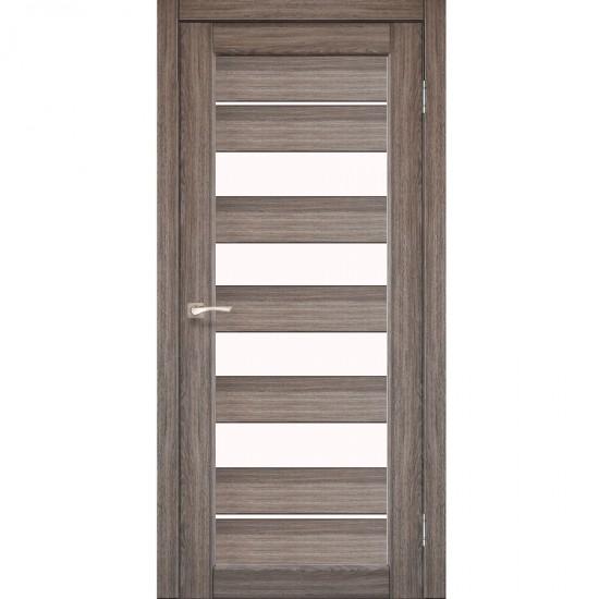 Дверь Piano Deluxe PND-03 со стеклом бронза Дуб грей
