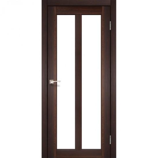 Дверь Torino TR-02 со стеклом бронза Орех нестандарт