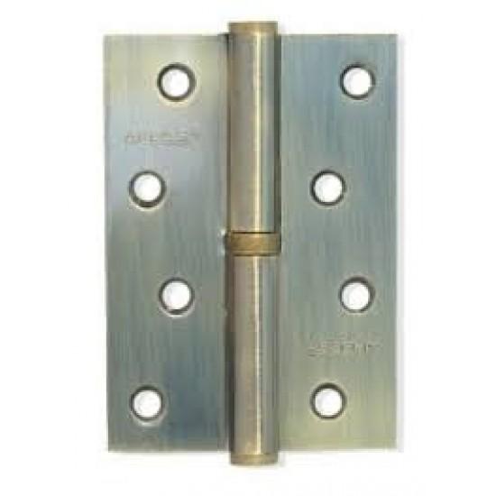 Петля дверная сьемная KEDR 100х75 AB-R пара