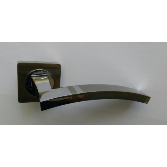 Дверная ручка на квадратной розетке KEDR R08-149 AL-SN-CP