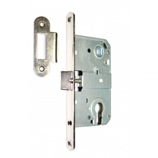 Дверной замок CLASS корпус 410С NI евро межцентр 85 мм