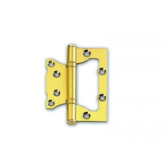 Петля дверная KEDR пара FLUSH SN Ковбой 100х63х2,0мм